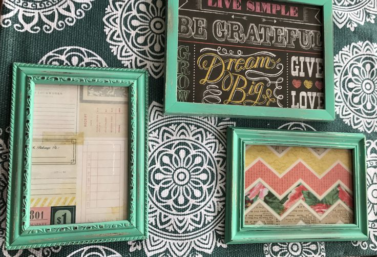 Shabby Chic Teal Picture Frames - Set of 3 by SpencerGirlDecor on Etsy https://www.etsy.com/listing/528312269/shabby-chic-teal-picture-frames-set-of-3