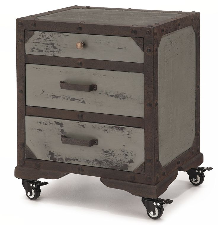 Prince Table End 3 Drawer Nightstand