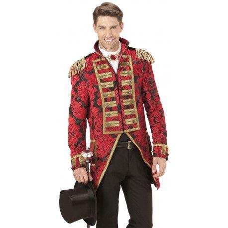 Frac Rojo Premium para Hombre Adamascado #Pirata #Epoca #Noble #Veneciano #Circo