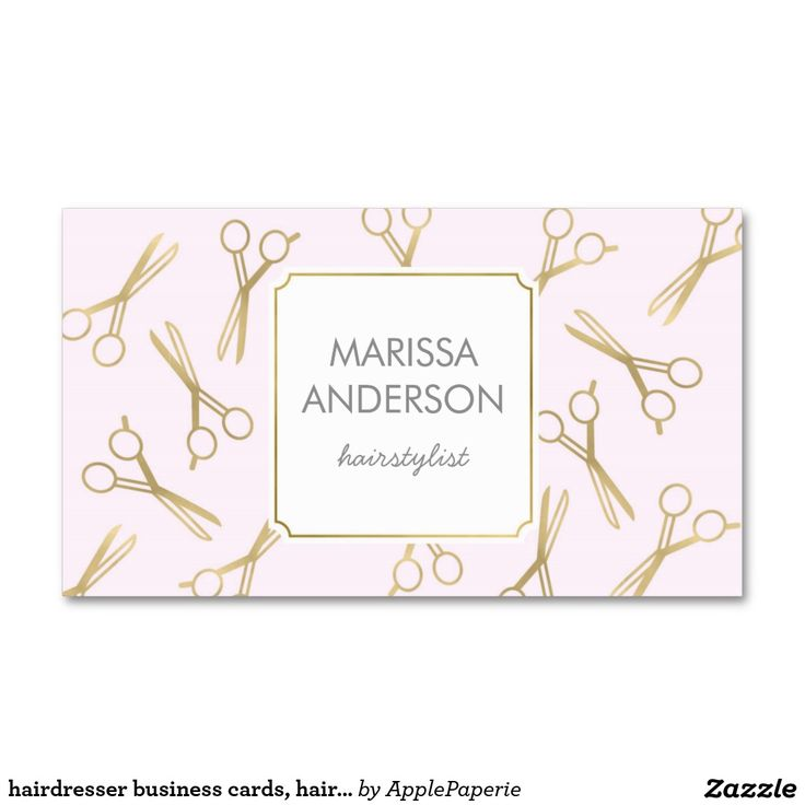 hairdresser business cards, hairstylist, makeup business card