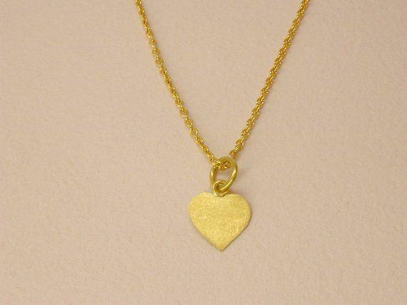 Kleines Weihnachtsgeschenk, Herz, Gold 750, für feine Kette