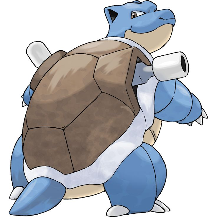 Blastoise - 009 - It crushes its foe under its heavy body to cause fainting. In a pinch, it will withdraw inside its shell. The pressurized water jets on this brutal Pokémon's shell are used for high-speed tackles.  @PokeMasters.net