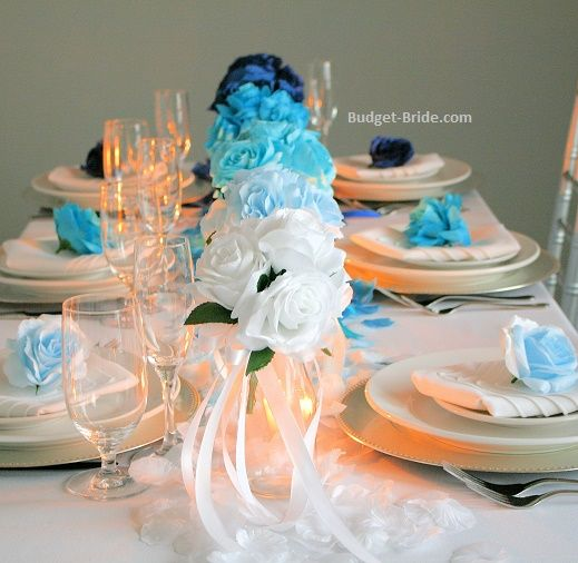 Best blue wedding flowers images on pinterest