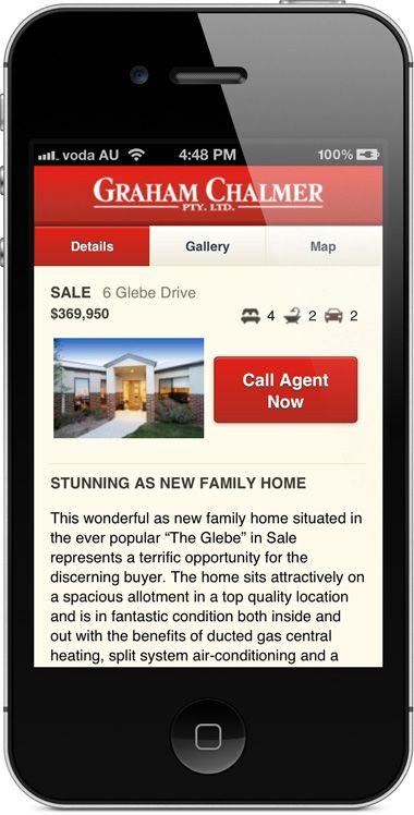chalmer.com.au - mobile website - property details page.