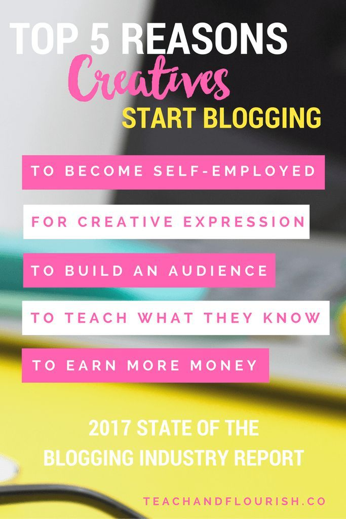 Interested to know what motivates bloggers? Here are the Top 5 Reasons Creatives Start Blogging as shared in the 2017 State of the Blogging Industry Report by ConvertKit.