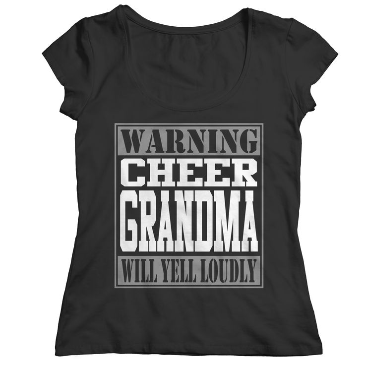 Limited Edition - Warning Cheer Grandma Will Yell Loudly - T-Shirt Long  Sleeve Hoodie & Ladies V-Neck