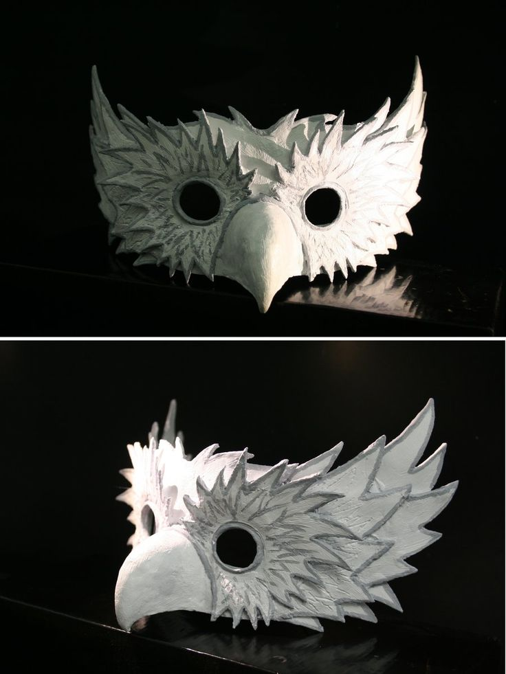 """Owl Mask - love the idea of layering a metallic edge behind the """"feathers"""""""