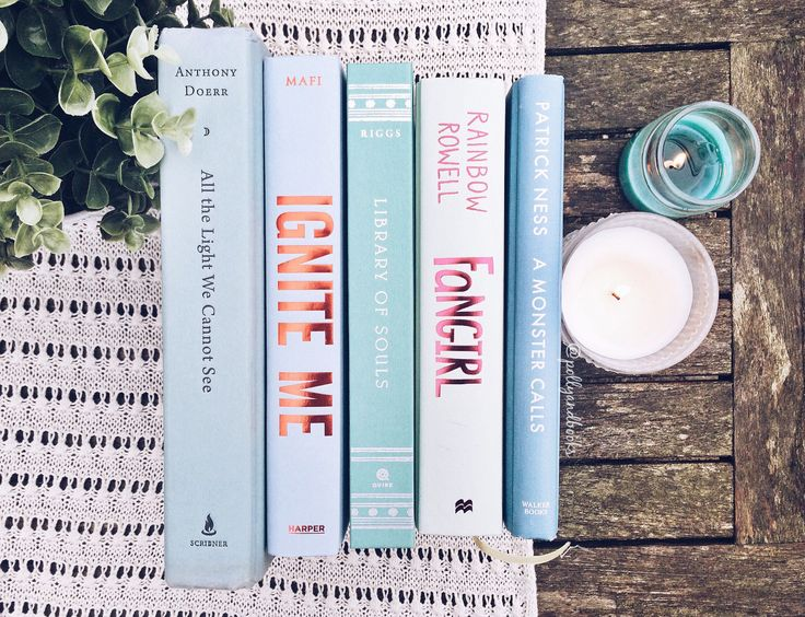 "pollyandbooks: "" Icy blue books for an icy cold day. ❄️ """