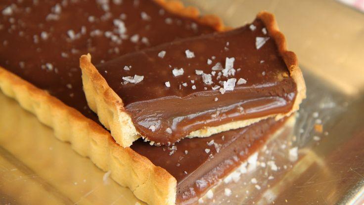 Karamell- og sjokoladeterte