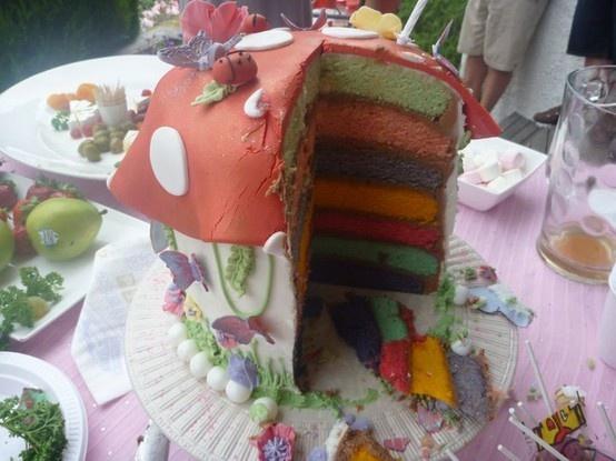 layered fairy cake. food-p0rn