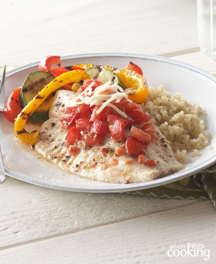 Bruschetta fish dinner recipe healthy living recipes for Best fish dinner near me