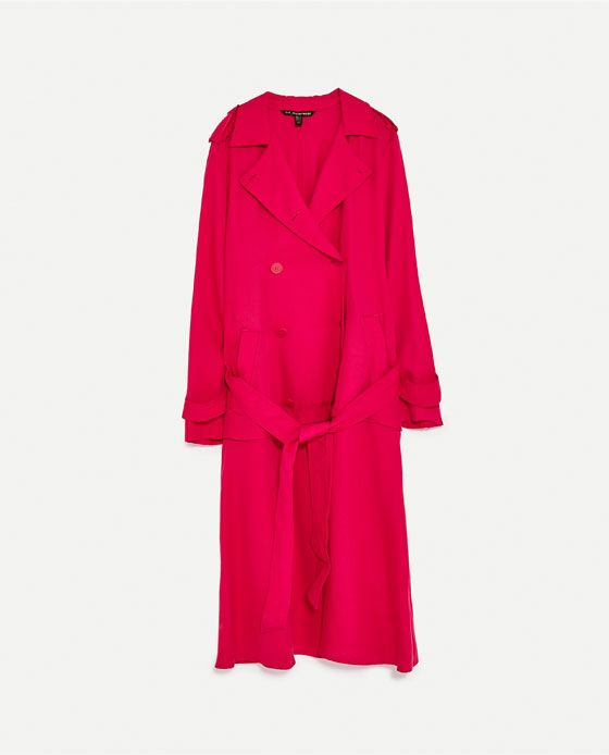 Image 11 of RUFFLED TRENCH COAT from Zara