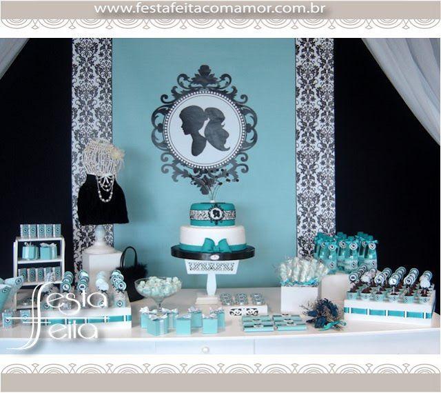 Papo Glamour: Meus 15 Anos - Tema Tiffany & Co.
