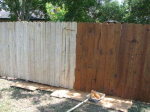 Staining A Old Wood Fence