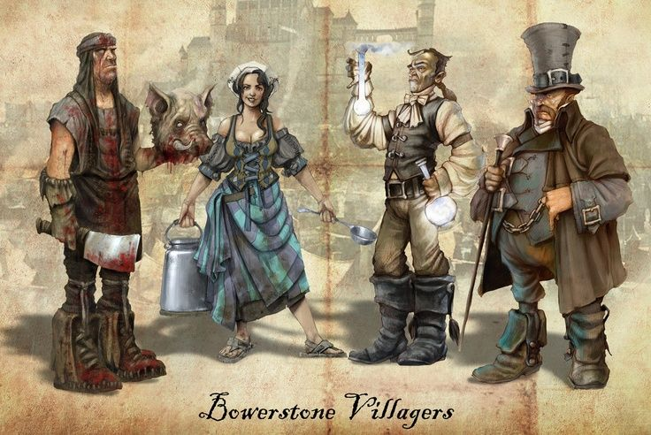 Bowerstone Villagers from Fable II.