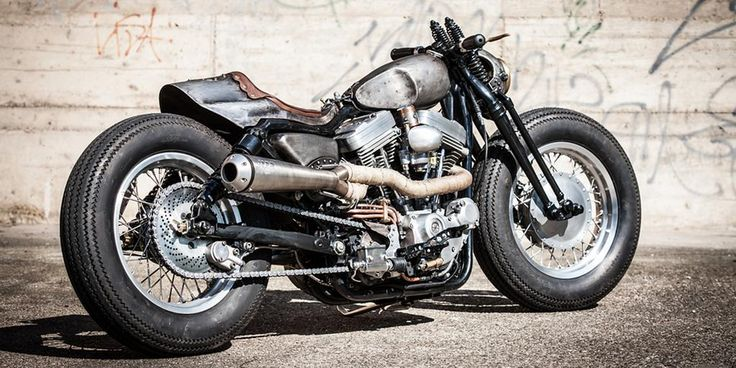 Part bobber, part cafe racer, all win: Altes Eisen's custom @harleydavidson Sportster http://www.bikeexif.com/harley-davidson-sportster-custom…