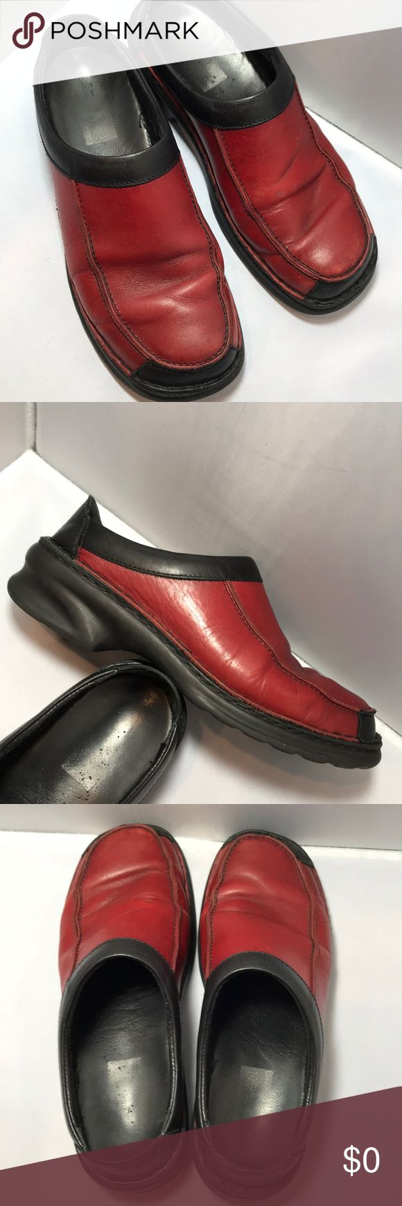 Josef Seibel  7 red / Black clogs They have been worn a bit but still have a lot of life Josef Seibel Shoes Mules & Clogs