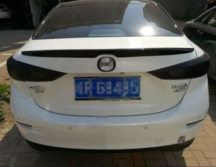 (71.25$)  Watch more here - http://aig7w.worlditems.win/all/product.php?id=32798720879 - BLACK Rear Wing Trunk Aero Spoiler For Mazda3 Mazda 3 sedan 2014 2015 2016 2017