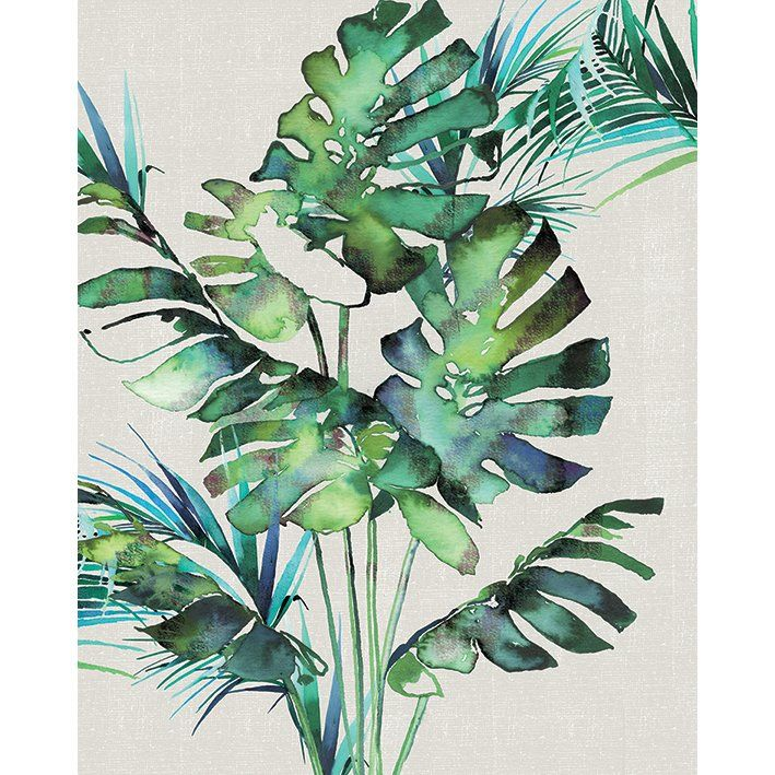 Watercolor Green Plants Monstera Nature Posters And Prints: 25+ Best Tropical Art Ideas On Pinterest