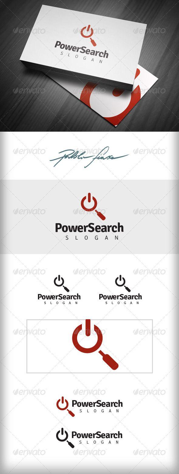 Power Recruitment Logo - Job Seek Logo - SEO Logo