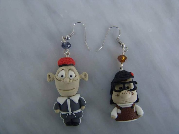 Mary and Max polymer clay earrings inspired from the animated feature film Mary and Max.