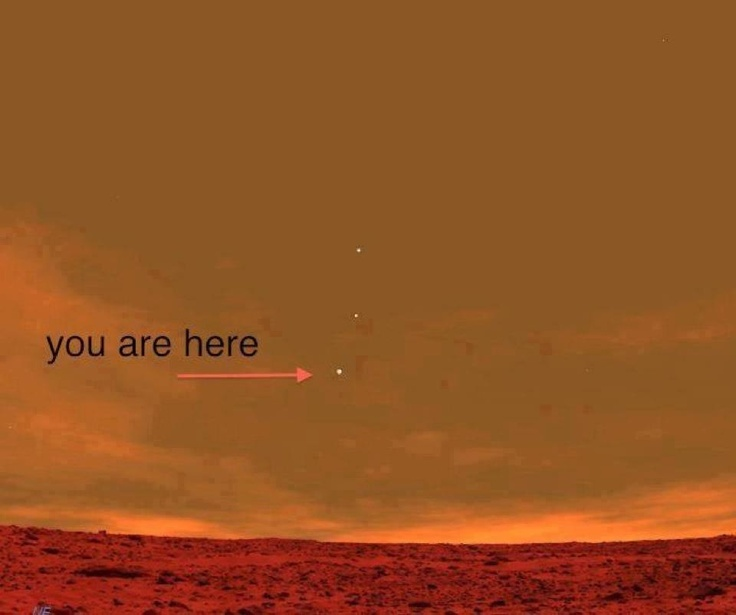 Image from the Mars Curiosity showing Earth from Mars. Amazing.