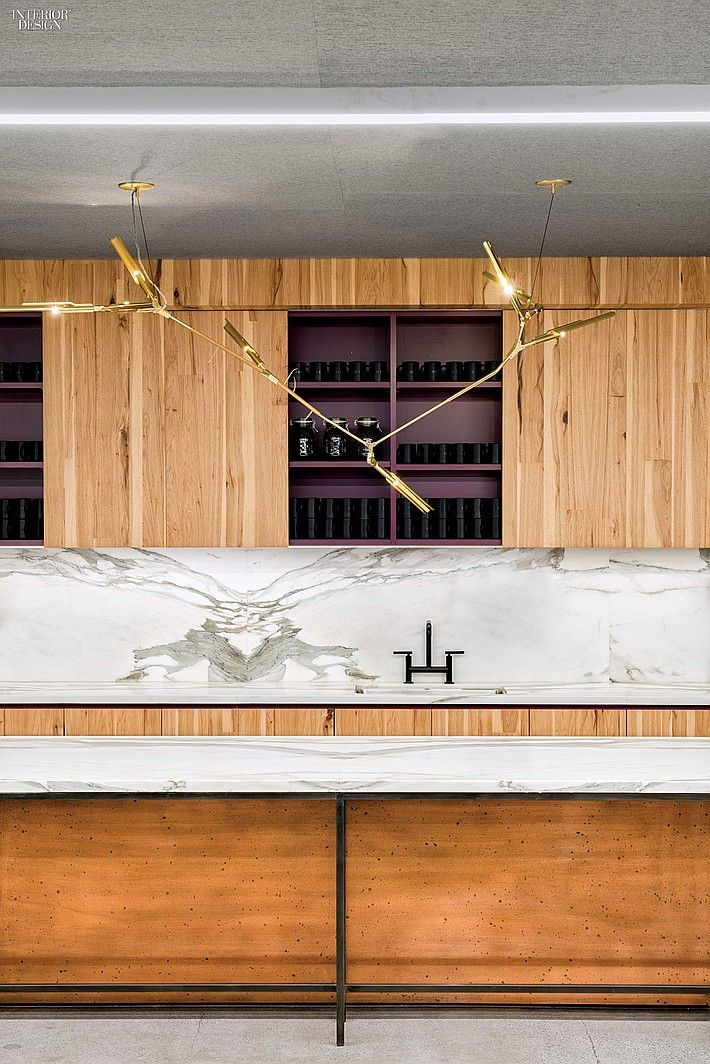 Warm wood and white marble kitchen and bar design.  I love the way the wood makes the space feel very comfortable and warm. Interior Design