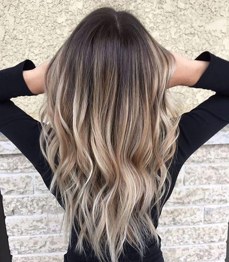 картинки омбре на русые волосы белым