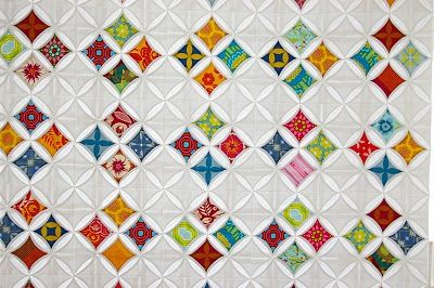cathedral window quilt... something different