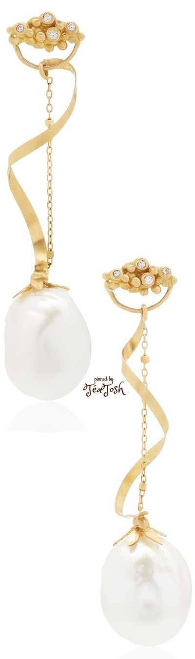 ❇Téa Tosh❇ 18K Yellow Gold (4gr), South Sea Pearls, Diamonds