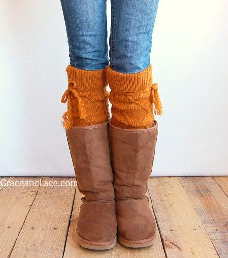 Alpine Thigh High Slouch Sock - Goldenrod thick cable knit socks w/ fold over cuff  tassel tie - boot sock leg warmer (item no. 6-26)