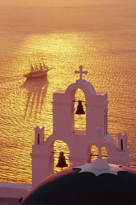 ღღ Santorini, Greece ~~~ Breathtaking Sunset Photography