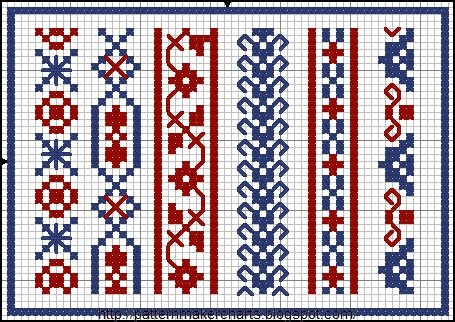 Free Easy Cross, Pattern Maker, PCStitch Charts + Free Historic Old Pattern Books: PCStitch http://patternmakercharts.blogspot.com/search/label/PCStitch#
