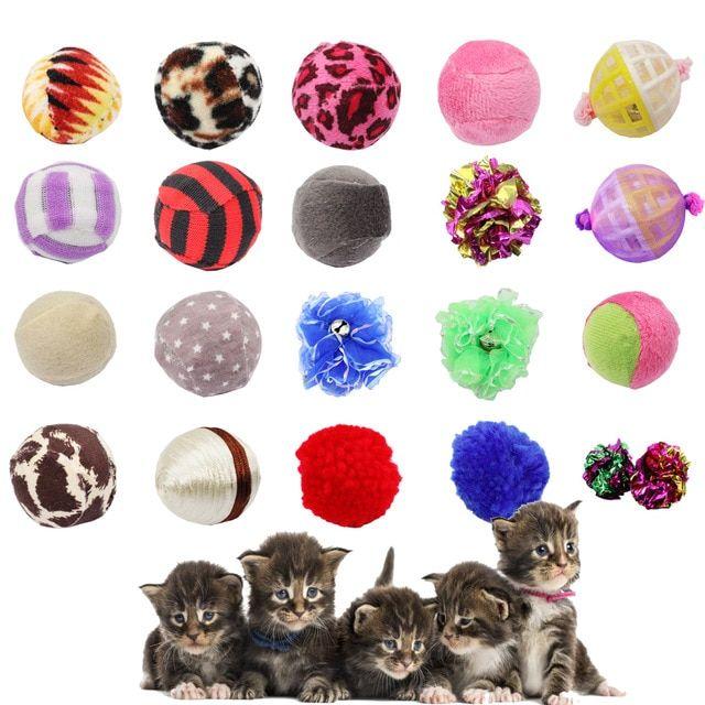 4pcs Lot Interesting Cat Toy Ball Pet Toy Set Ring Paper Plastic