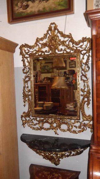 Консоль с зеркалом 98 000 руб.  Консоль(настенная) с зеркалом ,размеры консоли 67x27cm,размеры зеркала с рамкой 68x95,мрамор.Европа,состояние очень хорошее. #винтаж #винтажнаямебель #дизайнинтерьеров #ампир #рококо #барокко #antik #antic #дизайнеринтеьера #стариннаямебель #канти #дерево #ретро #мебель #интерьер #антикварныймагазин #предметыинтерьера #мебельизевропы #старинные #старина