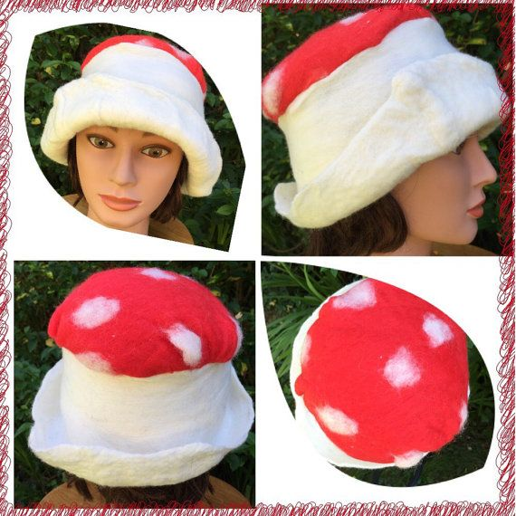 Mushroom Hat by GlennaEclectic on Etsy