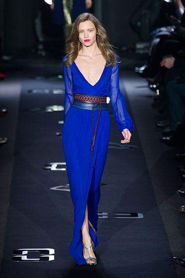Diane Von Furstenberg NYFW Fall 2013 // Loving the cobalt blue