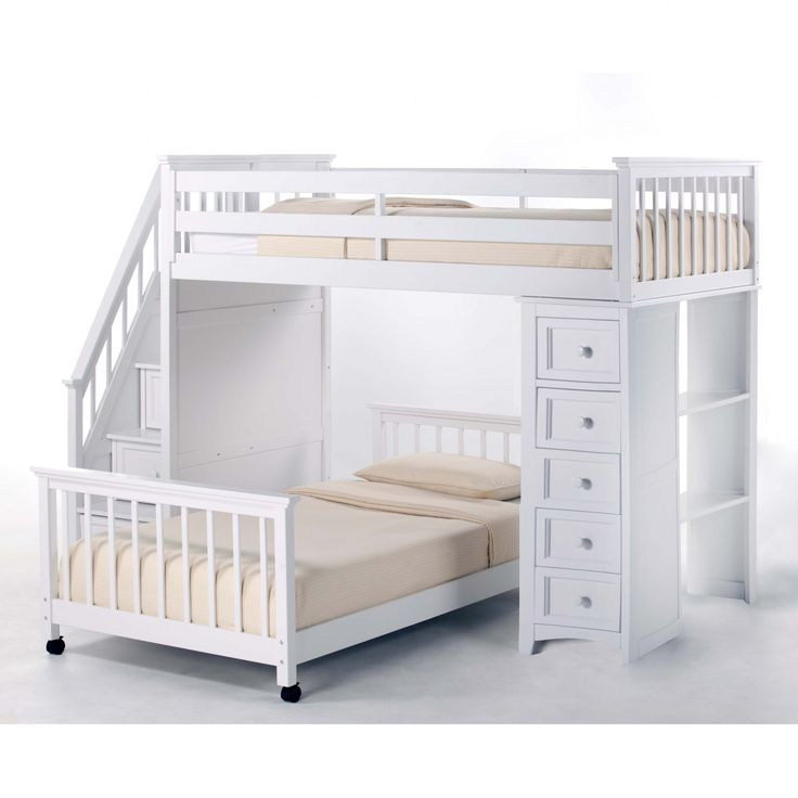New White Wooden Bunk Beds Check more at http://dust-war.com/white-wooden-bunk-beds/