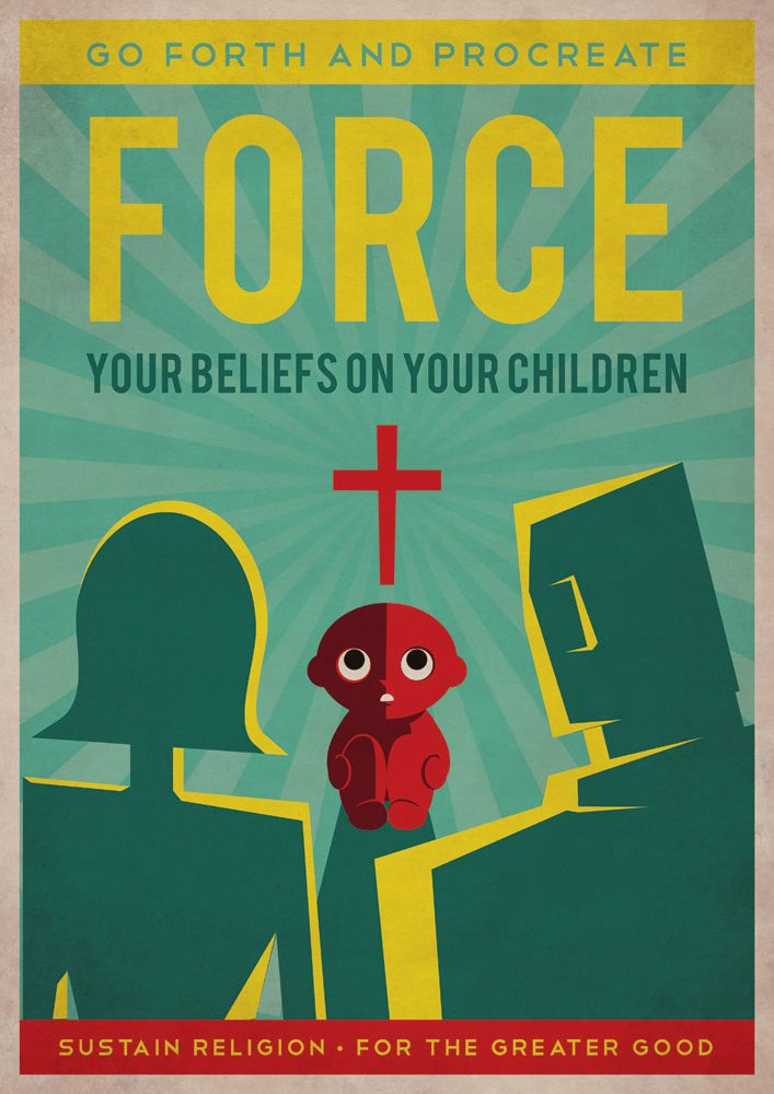Force your beliefs #atheism
