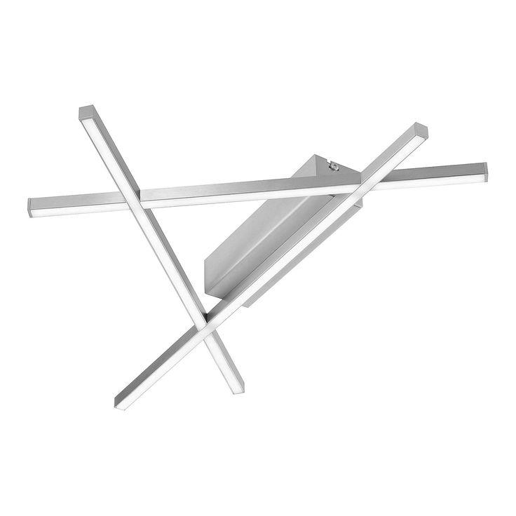 EEK A+, LED-Deckenleuchte Stick 2 - Eisen - Silber, Paul Neuhaus