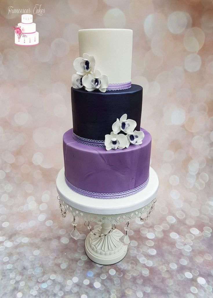 purple orchid wedding cake 25 best ideas about orchid wedding cake on 6900