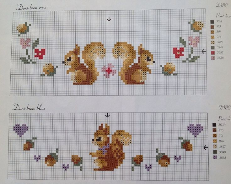 Whimsical cross stitch