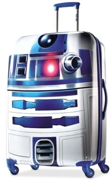 I know these are for kids but... R2D2 suitcase #starwars