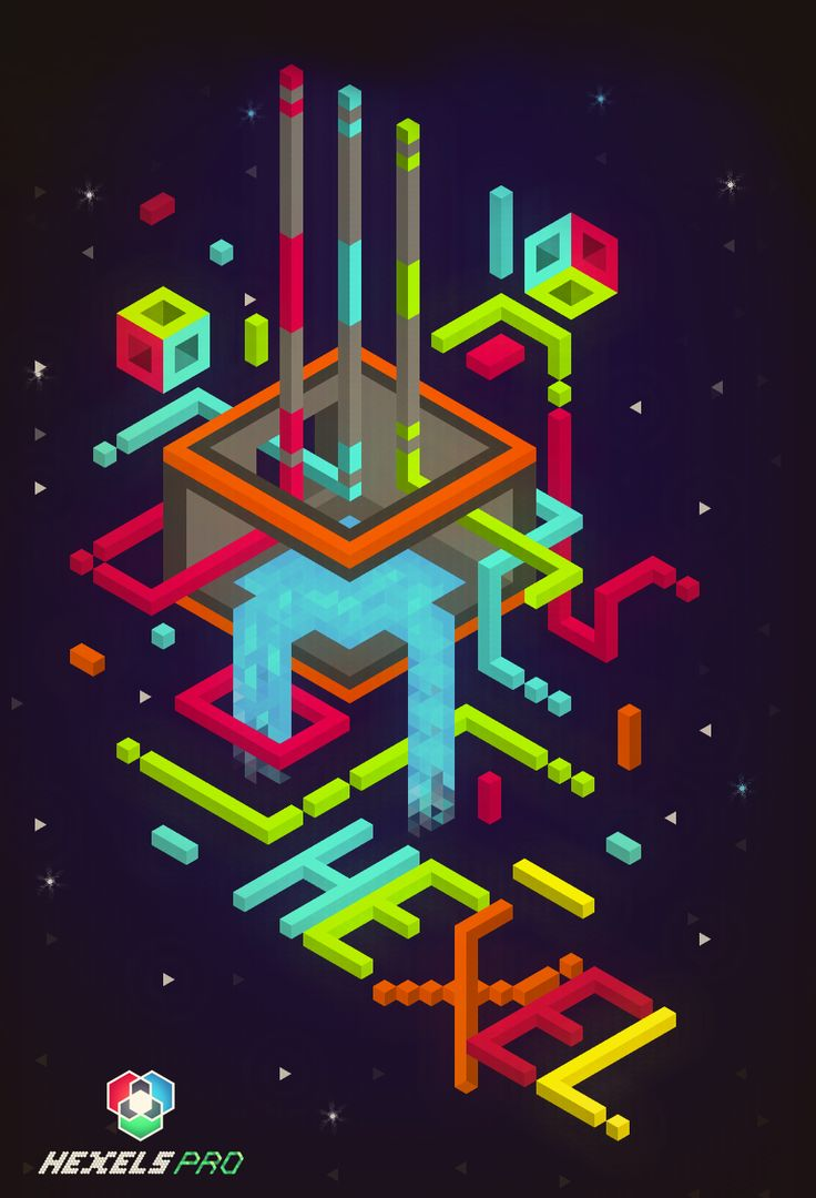 stillfr33: Here's a little fan art using Hexels and Photoshop… I use Hexels program for first time so expect more pieces like this and hopefully much better then this one… I hope u guys like this one…