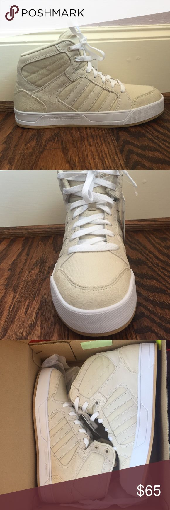 Adidas Neo sneakers Brand new WITH TAGS adidas sneakers size 7!!! Super fun high tops would be a great gift for someone! Adidas Shoes Sneakers