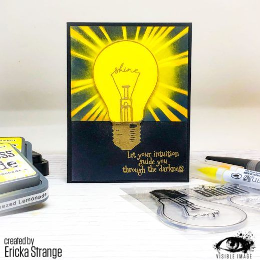 Shining Guidance | Lightbulb Stamp | Inspiring Quote | Cards