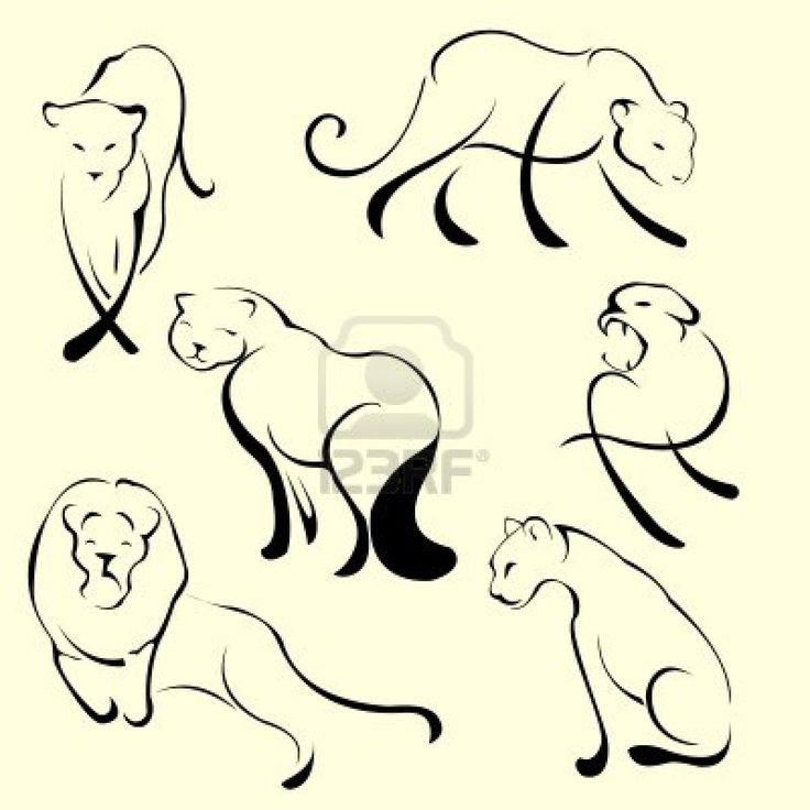 simple lion tattoos - Google Search