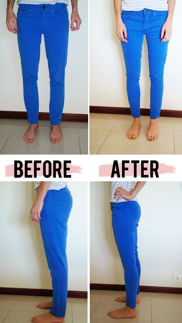 Fix skinny jeans that are too big.