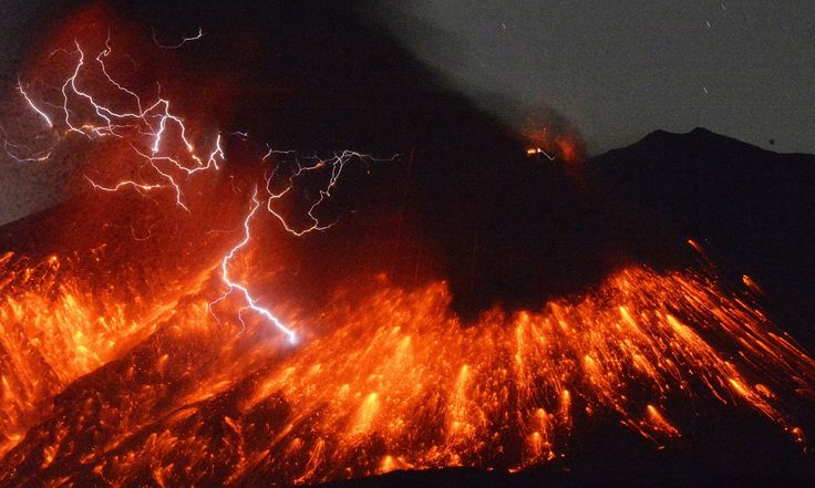 No immediate reports of injuries as lava rolls down mountain's slope and smoke billows into sky