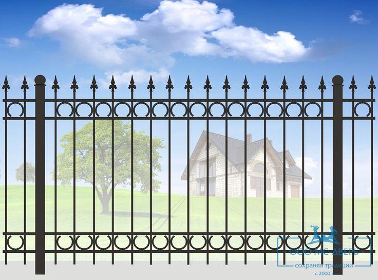 Кованый забор для дачи Арт. № 1036